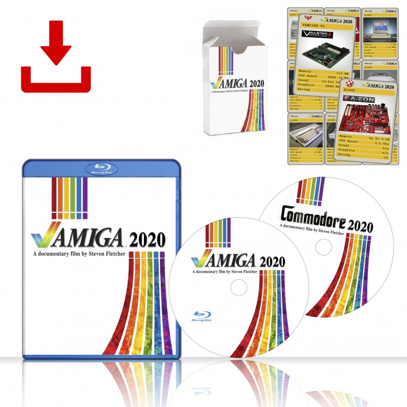 Digital Download Amiga 2020 & Commodore 2020 Documentaries & Amiga 2020 Cards - PreOrder