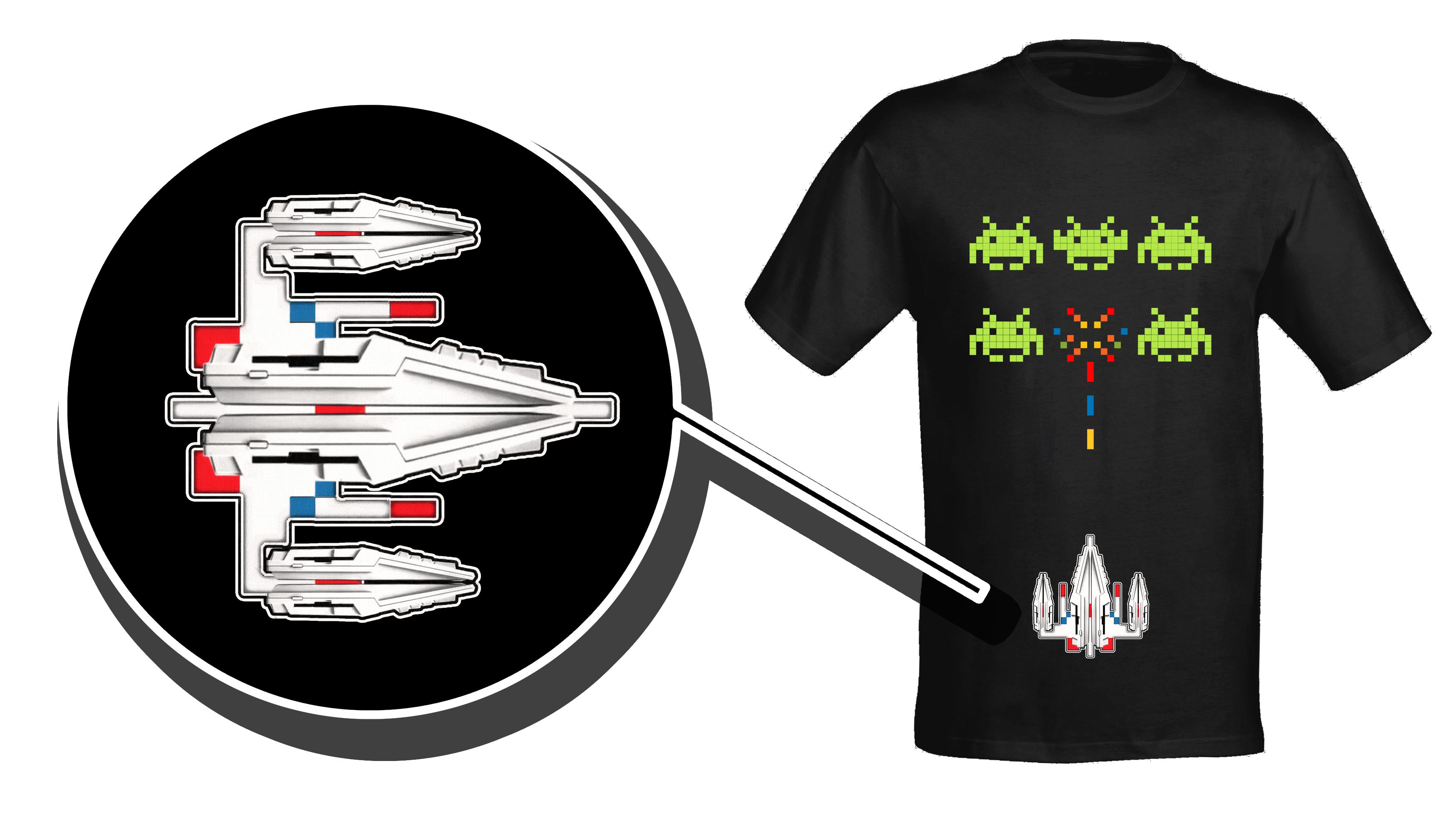 Amiga Vs Space Invaders T Shirt